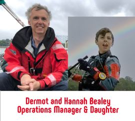 Dermot & Hannah Bealey - Barton Operations Manager and Laser Racing Daughter