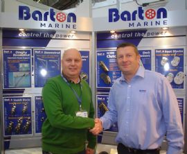(L-R) Jesper Cramer, General Manager for Palby Marine and Paul Botterill, Barton's Operations Director