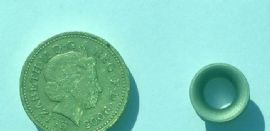 High load eyes size comparison with a £1 coin