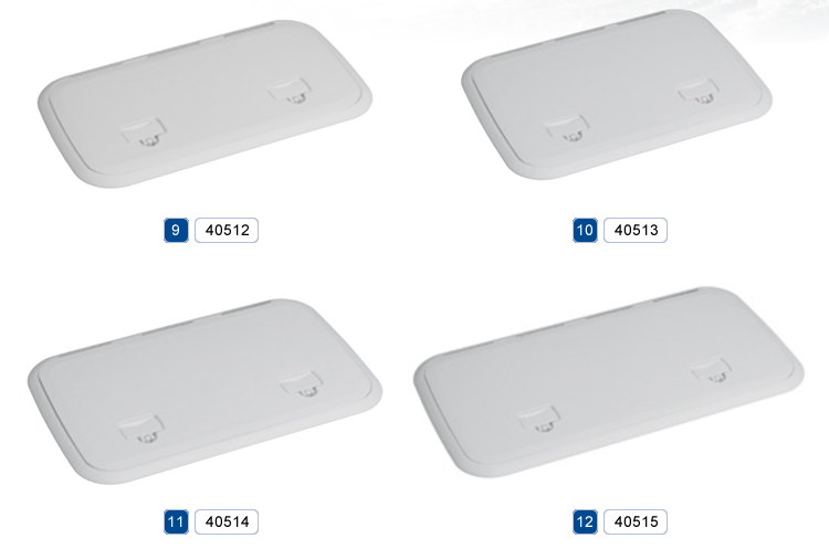 Barton Marine - Hinged rectangular inspection covers