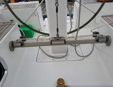Removable Mainsheet Track System