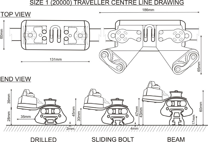 Size 1 (20000 Range) Traveller CL Drawing