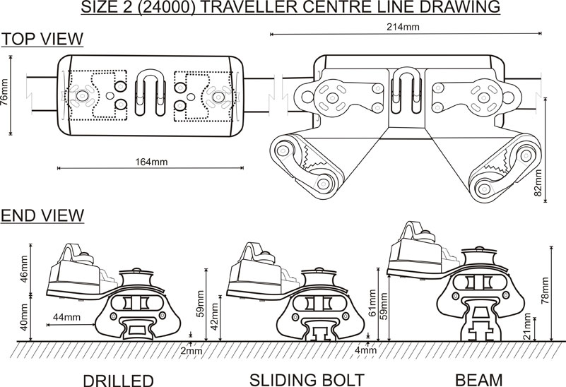 Size 2 (24000 Range) Traveller CL Drawing