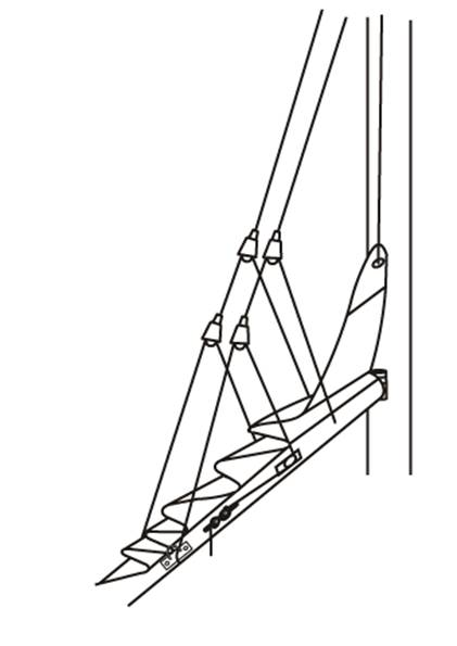 Diagram of 41 143 Cascade Lightweight Lazy Jack Kits