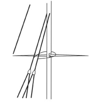 Diagram E - Fitting Shock cord to clear the spread ends