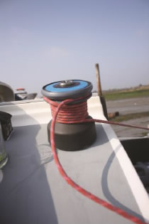 Fitting the Barton Wincher - Step 4: Fitted - Loaded and cleated